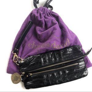 Charles David genuine Leather Clutch